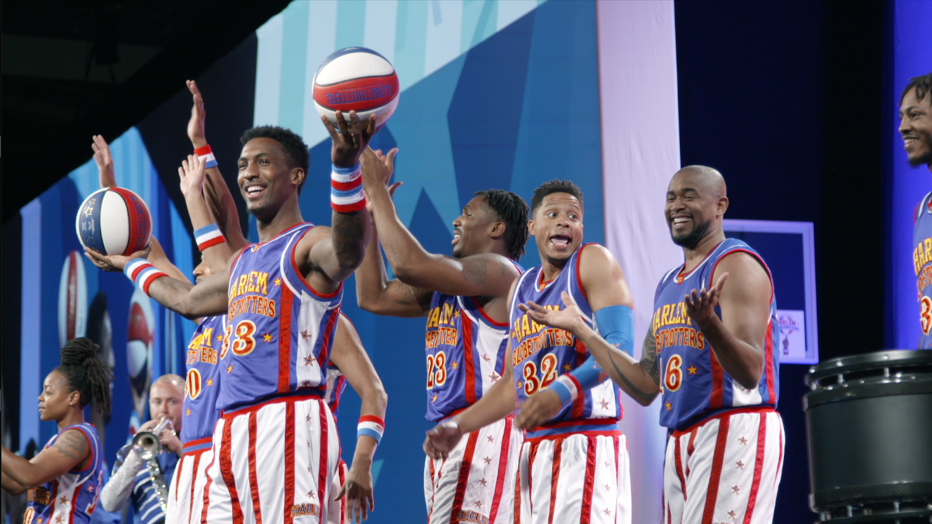 The Harlem Globetrotters put on a basketball exhibition at the World Gas Conference in Washington, D.C., on June 26, 2018. The performance followed a keynote speech by Energy Secretary Rick Perry.