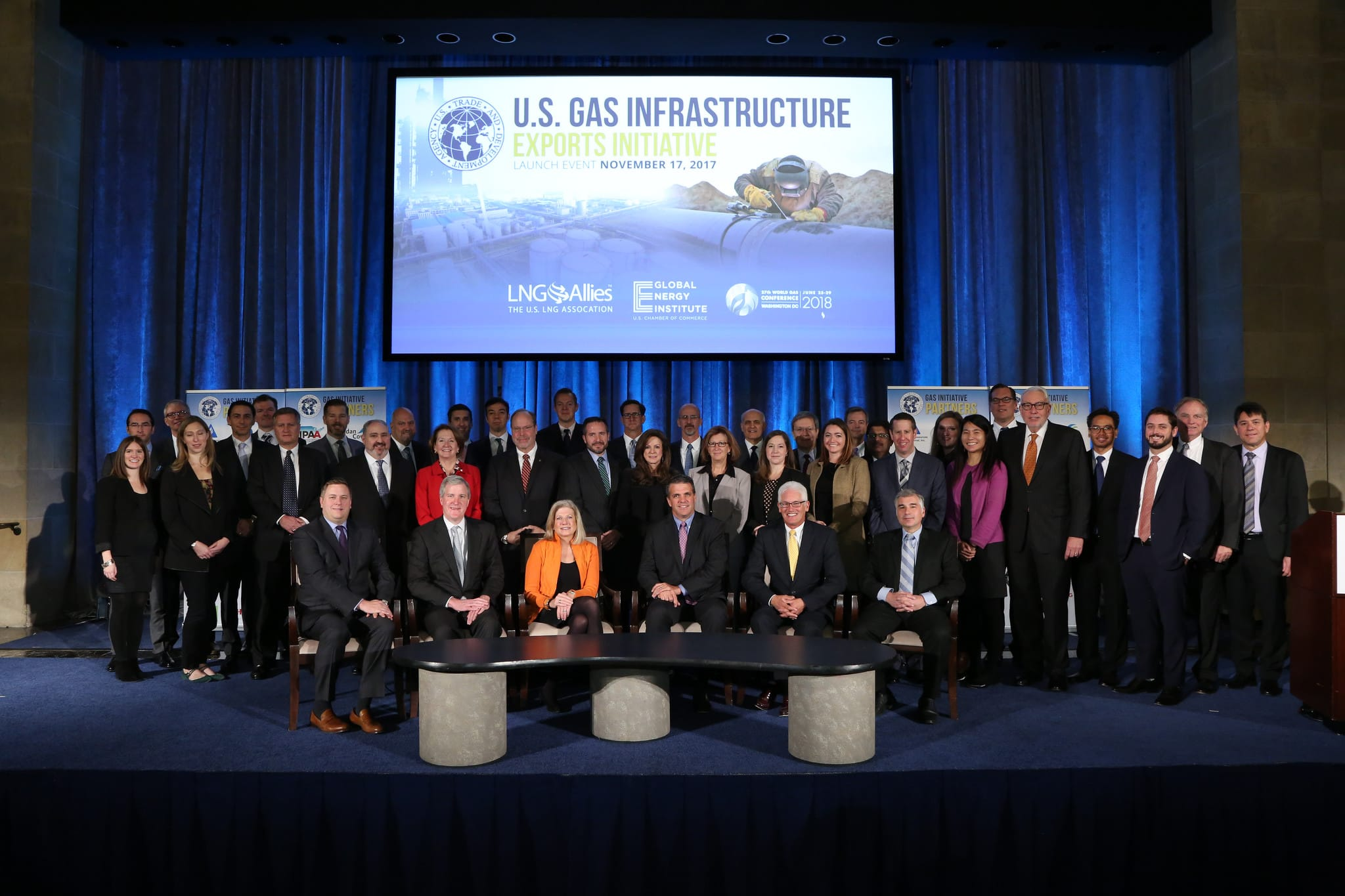 The U.S. Gas Infrastructure Exports Initiative was unveiled by the U.S. Trade Development Agency on November 17, 2017 to promote sales of American natural gas.