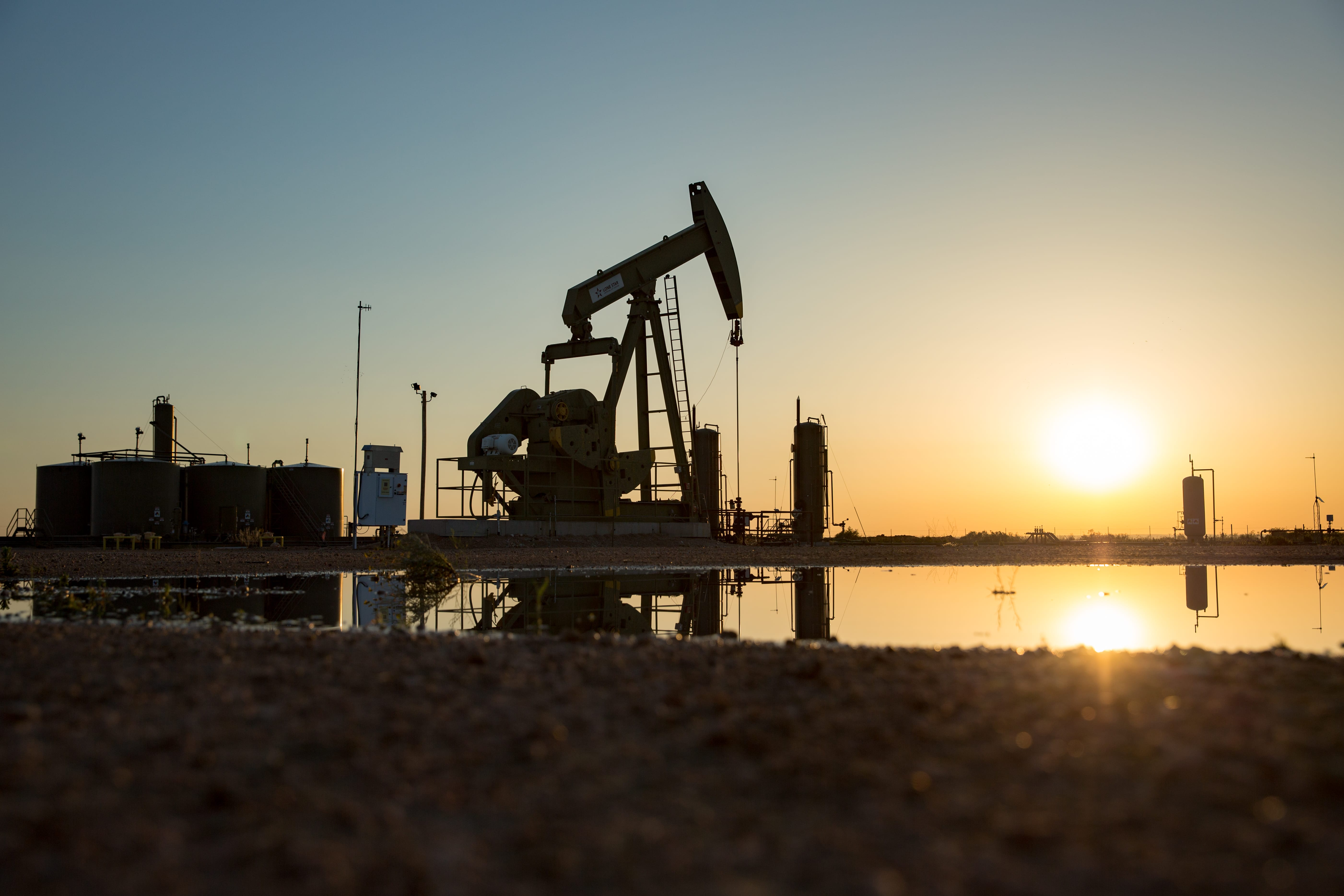 A pump jack operates in Carlsbad, N.M. (Robin Zielinski for the Center for Public Integrity)