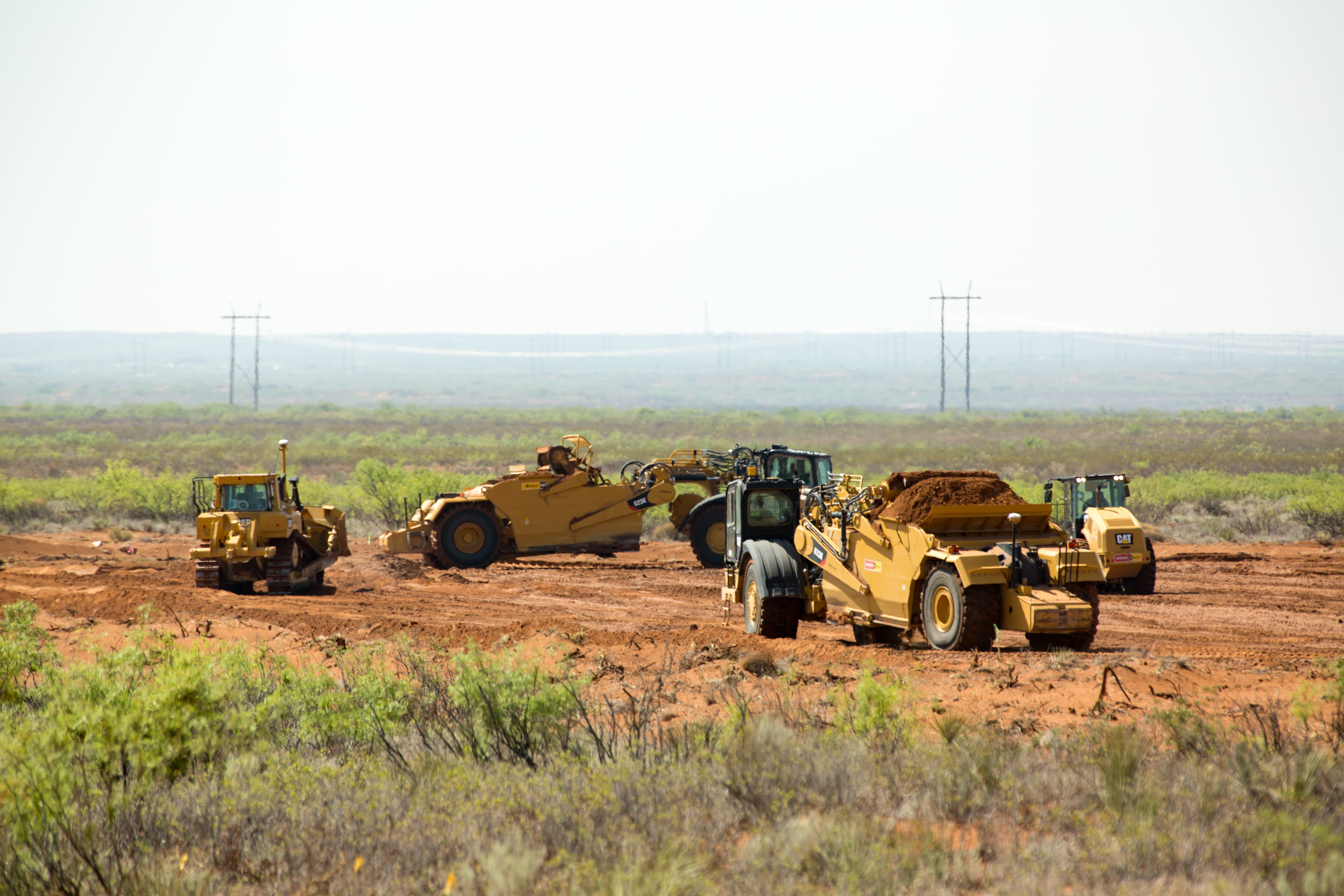 Public land near Carlsbad, N.M., is cleared for oil and gas development. Wayne Smith, who leased it for ranching before his death in October, said he never received notification of the construction there. (Robin Zielinski for the Center for Public Integrity)